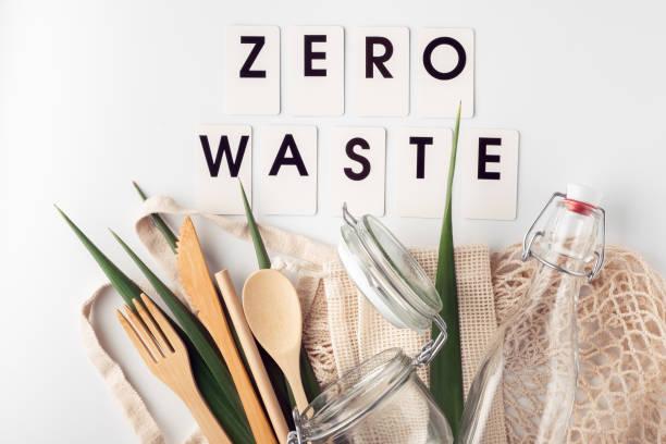 Zero waste, plastic-free and eco-friendly lifestyle and shopping stock photo