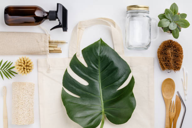 Zero waste, Recycling, Sustainable lifestyle concept stock photo