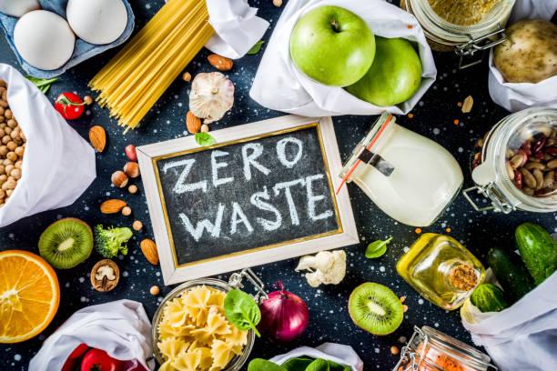 Zero waste-shopping-Konzept – Foto