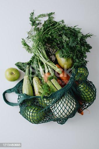Zero waste shopping and sustainable lifestyle concept,