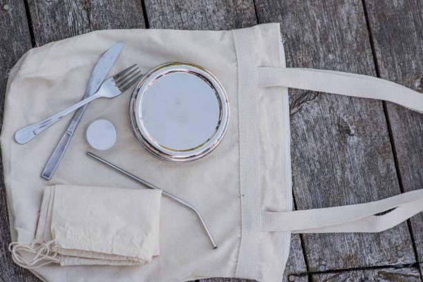 Zero Waste Travel Kit stock photo