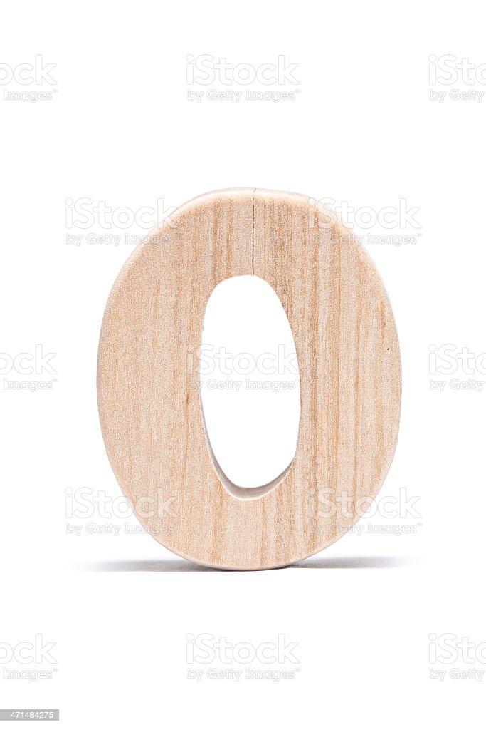 Zero, wood number royalty-free stock photo