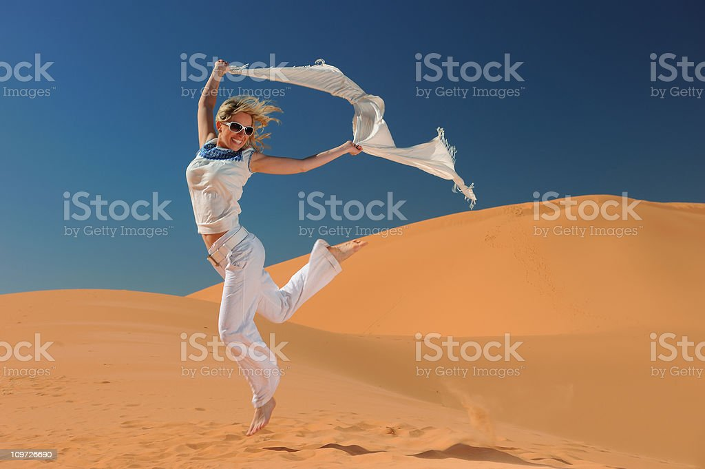 Zest for Life - Coral Pink Sand Dunes royalty-free stock photo