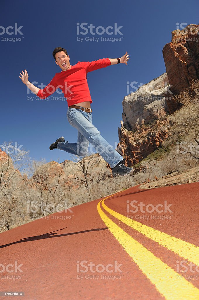 Zest for Life - Jumping royalty-free stock photo