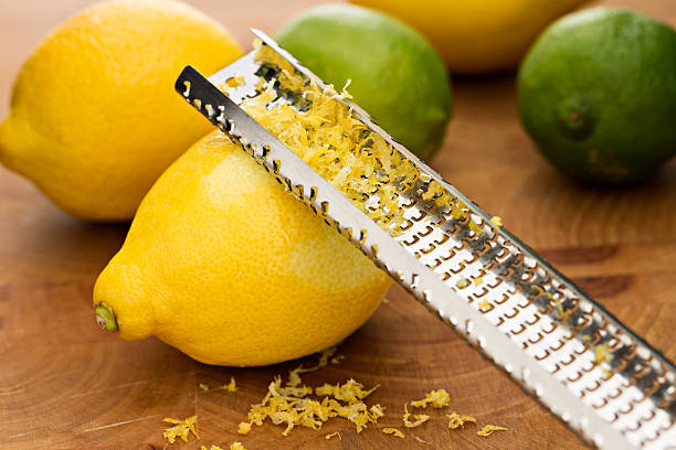 Zest, Lemons And Limes stock photo