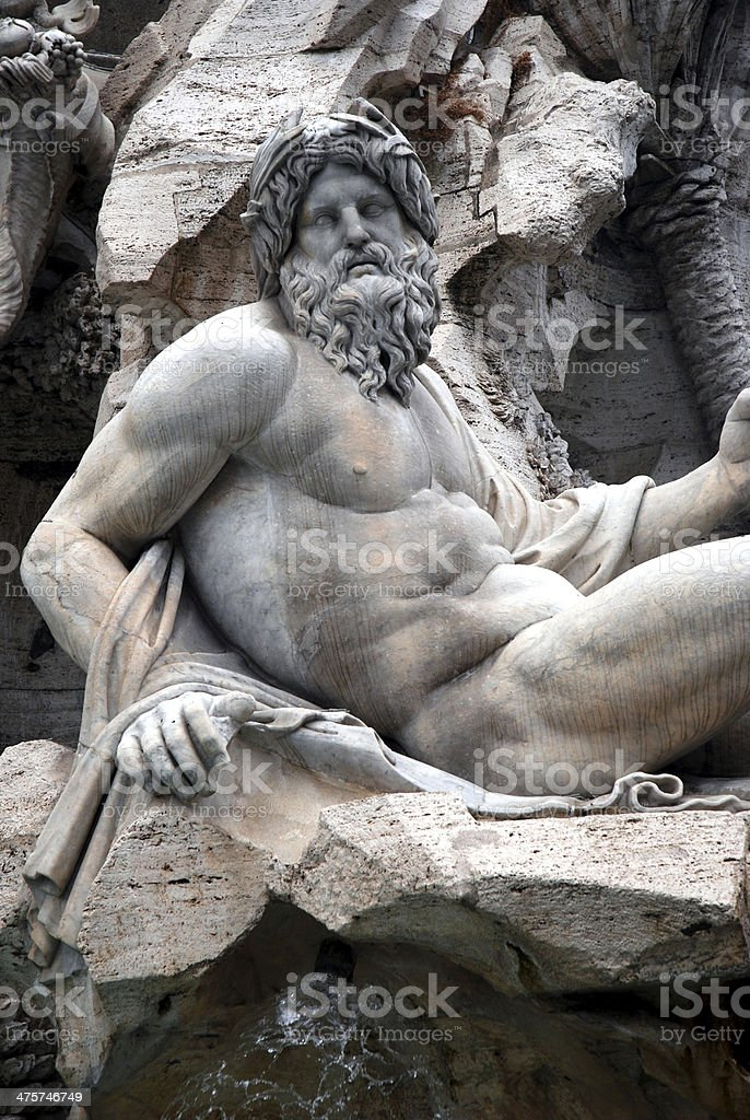 Zeus in a fountain royalty-free stock photo