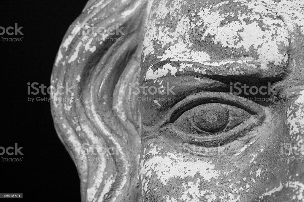 Zeus Sculpture or Statue Representing Vision royalty-free stock photo