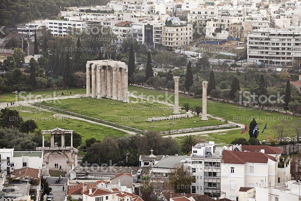 Zeus temple, Athens royalty-free stock photo