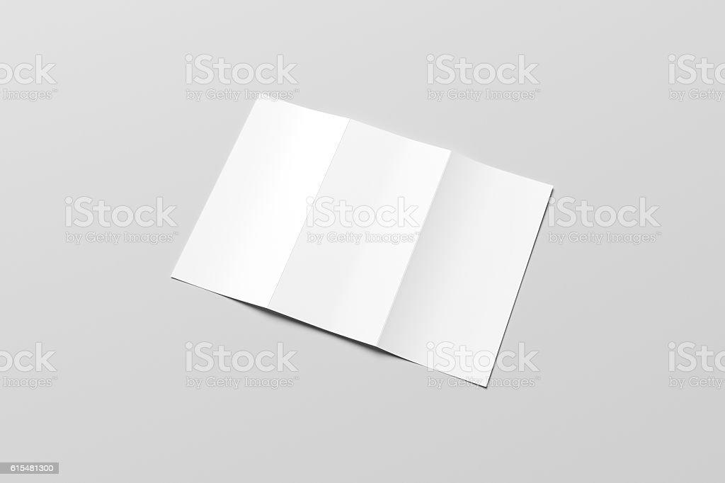 Spuare bifold half fold brochure mock up 3d illustrating stock.