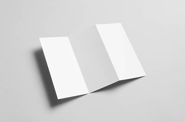 A4 Z-Fold / Fan Fold Brochure Mock-Up stock photo