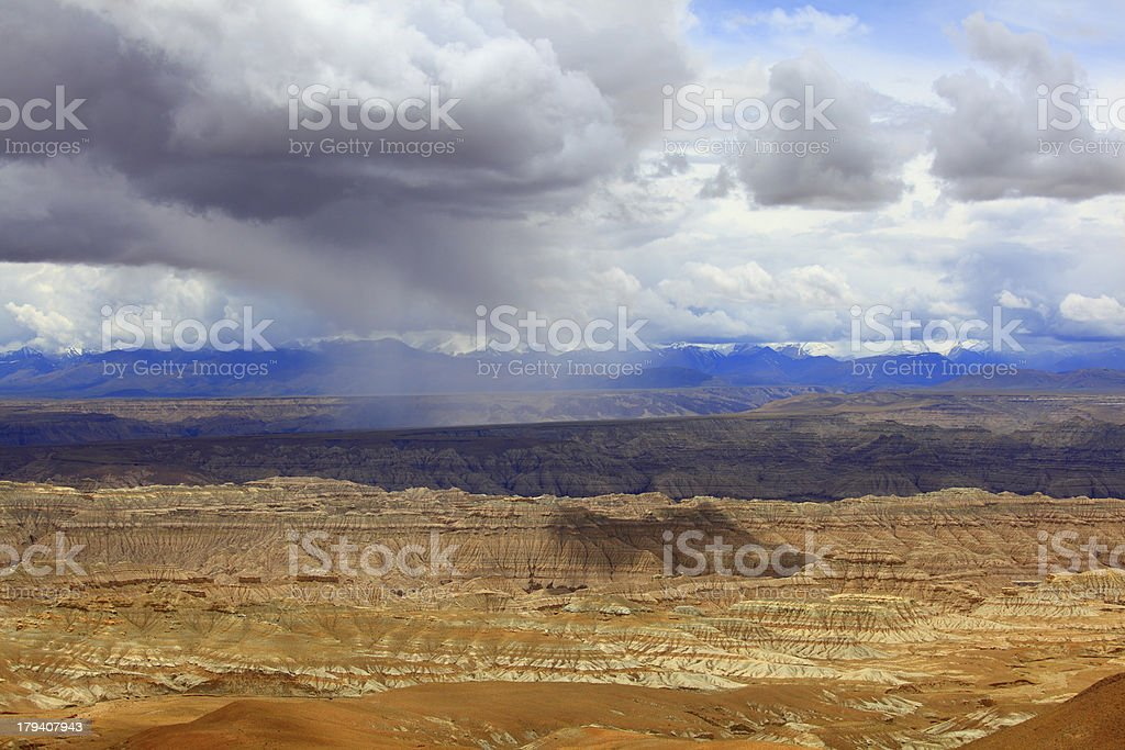 Zhada Clay 'Forest' in sunset stock photo