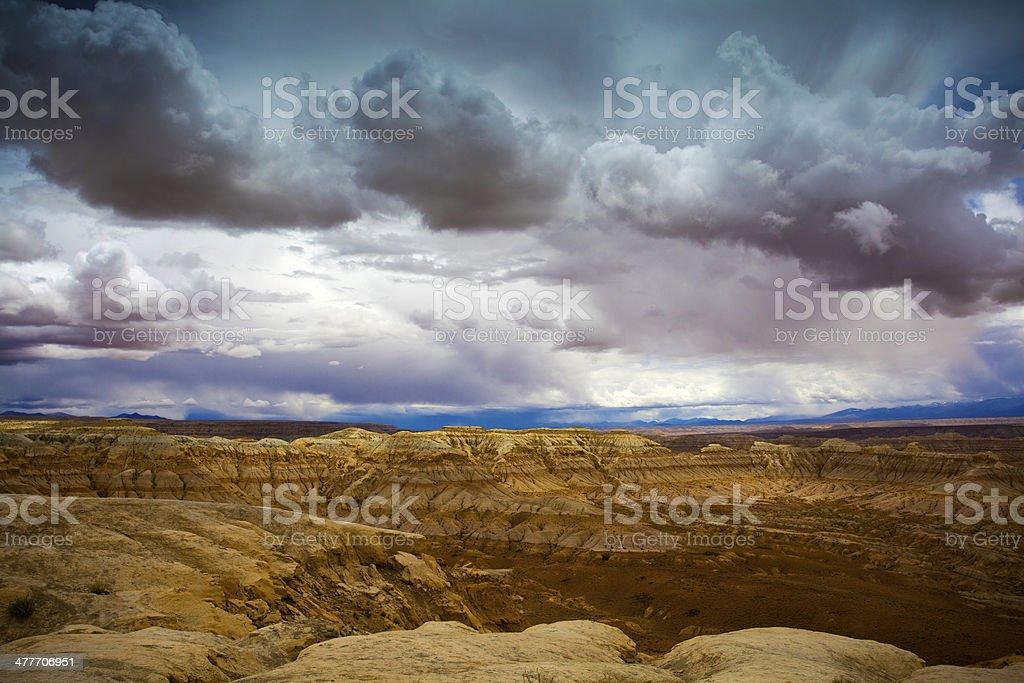 Zhada Clay 'Forest' in Tibet stock photo
