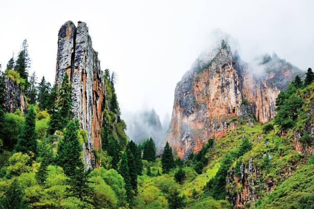Zhagana national park in Qulu County, Tibetan Autonomous Prefecture of Ganan, Gansu province, China. stock photo
