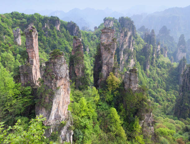 Zhangjiajie National Forest Park at Wulingyuan Scenic Area, Hunan, China stock photo