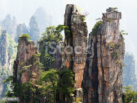 istock Zhangjiajie National Forest Park in Hunan Province, China 527636251