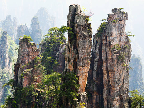 Zhangjiajie National Forest Park in Hunan Province, China stock photo