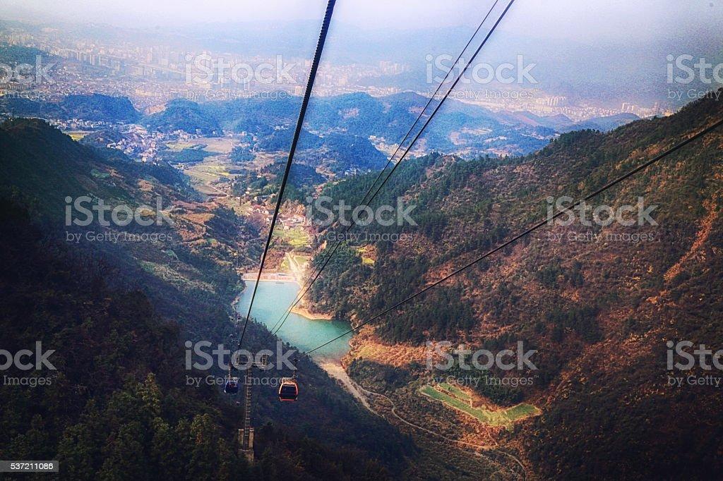 Zhangjiajie to Tianmen stock photo