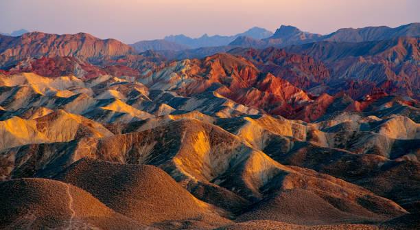 Zhangye Danxia landform in Gansu, China, also known as the eye candy of Zhangye stock photo