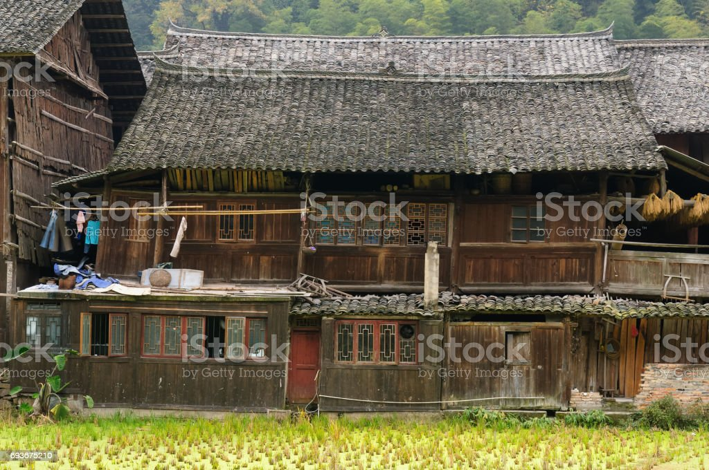 Zhaoxing minority village in China /11/200 stock photo