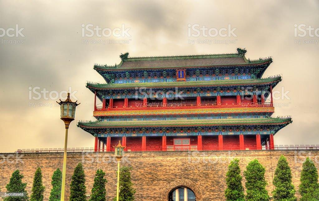 Zhengyangmen or Qianmen Gate in Beijing stock photo