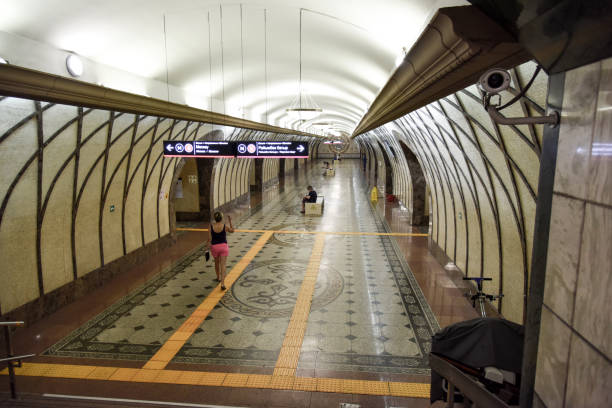 zhibek zholy (almaty metro) - almaty metro wiedenmeier stock-fotos und bilder