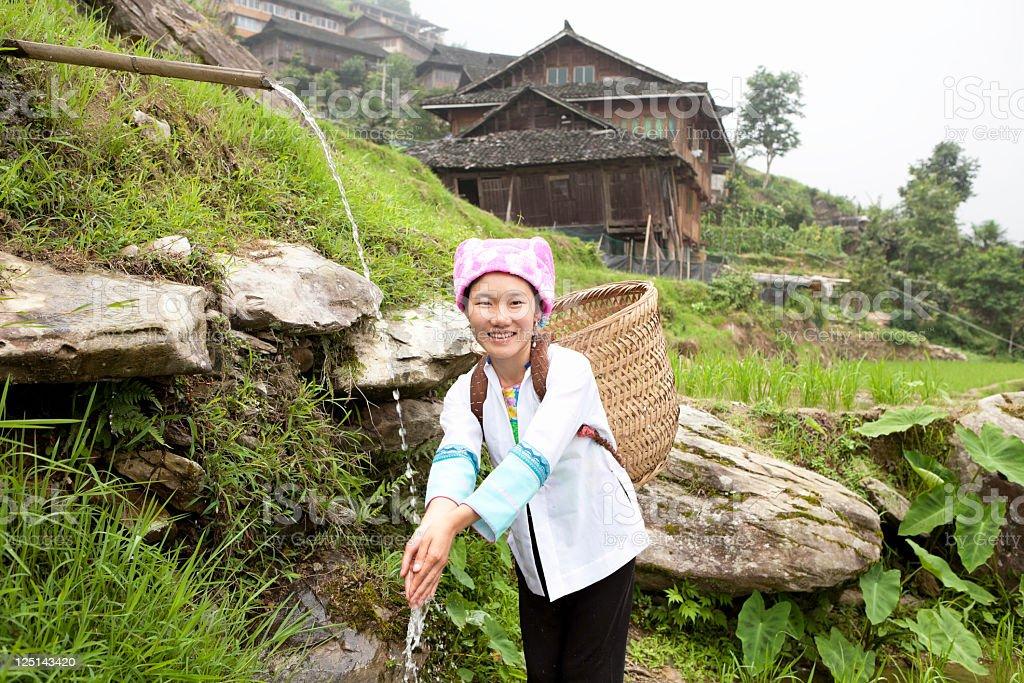 Zhuang Ethnic Minority royalty-free stock photo