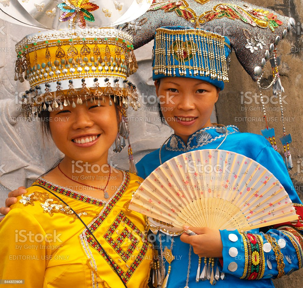 Zhuang Minority People - Guilin - China stock photo