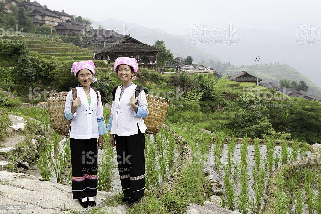 Zhuang Tribe Girls royalty-free stock photo