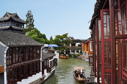 Zhujiajiao, which is Chinese old town area in Shanghai, China