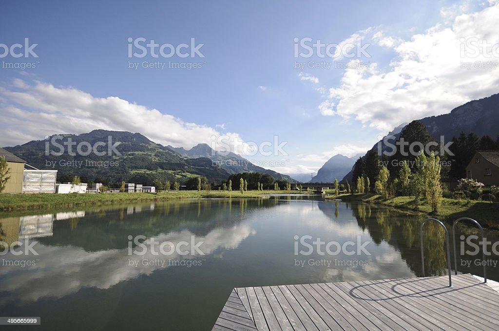 Ziegelbruecke with Lake stock photo