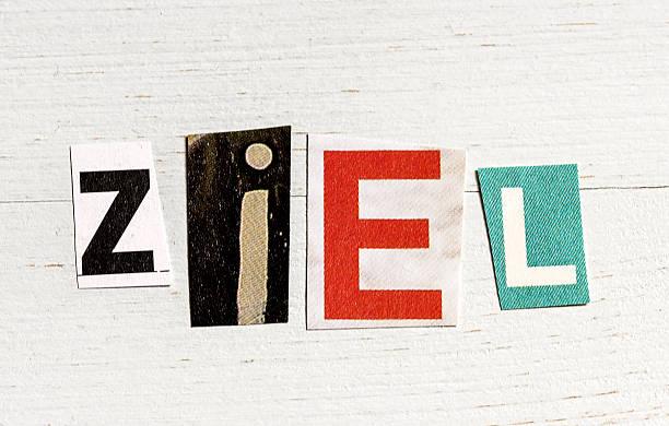 Ziel - aim in german Ziel ziel stock pictures, royalty-free photos & images