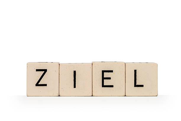 Ziel Buchstabenwürfel - Ziel ziel stock pictures, royalty-free photos & images