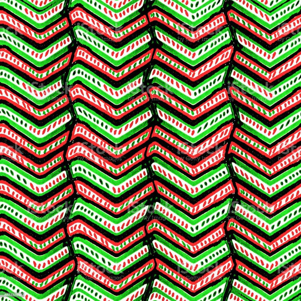 Zig Zag Multicolored Ethnic Pattern stock photo