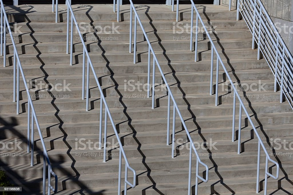 Zig Zags, Shadows, and Stairs stock photo