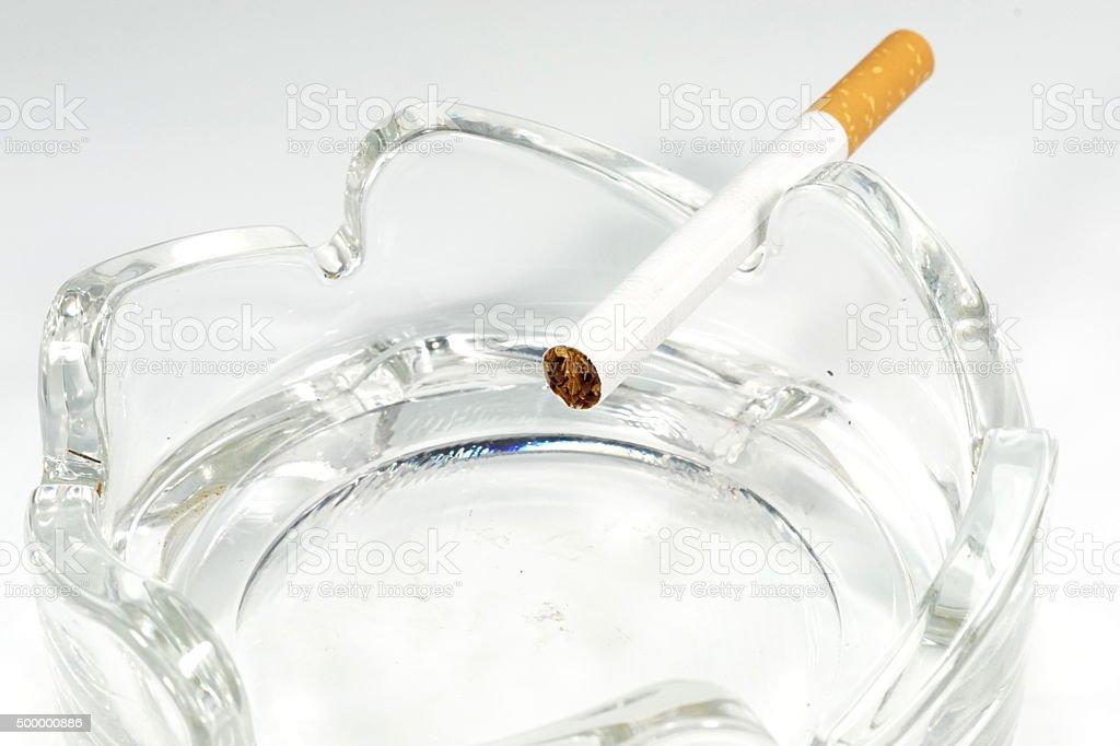Zigarette Aschenbecher stock photo