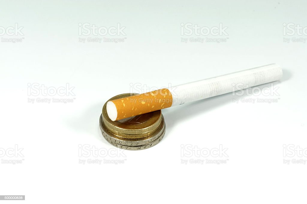Zigarette Tabaksteuer stock photo