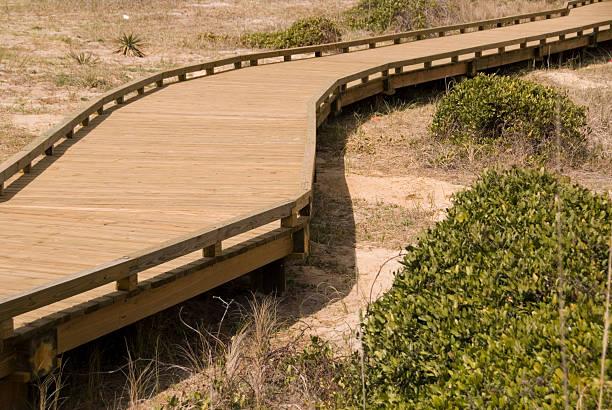 Zigzag Boardwalk stock photo