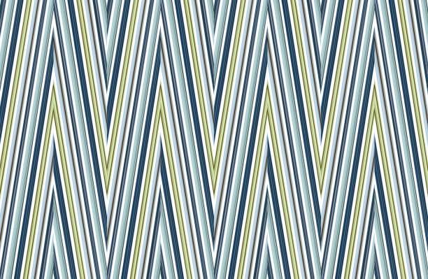zigzag line azure green textile background mottled base wrapper stock photo