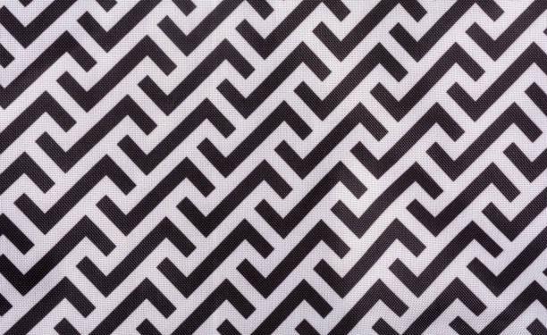 Zigzag pattern background fabric stock photo