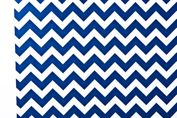 Zigzag pattern blue and white. stock photo