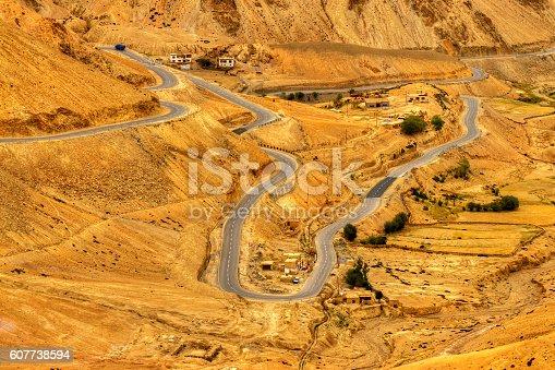 912120622 istock photo Zigzag road, Leh Srinagar Highway, Ladakh, Jammu and Kashmir, India 607738594