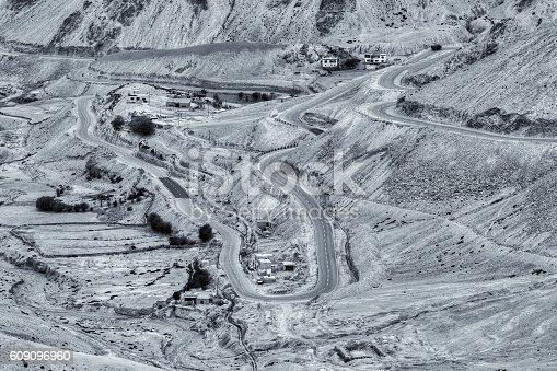 912120622 istock photo Zigzag road, Leh Srinagar Highway, Ladakh, Jammu and Kashmir, India 609096960