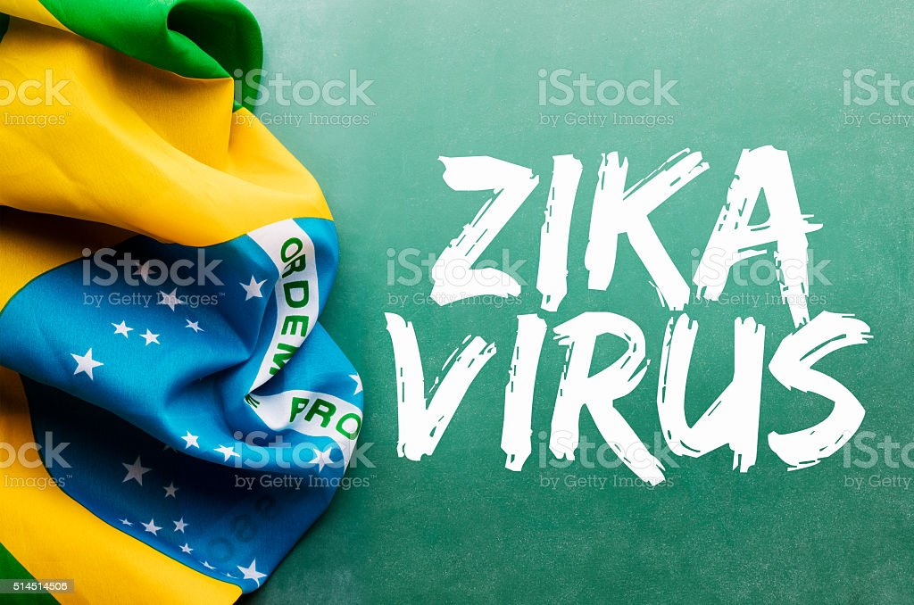 Zika virus de la concepto - foto de stock