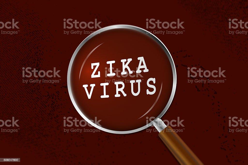 Zika Virus de la lupa - foto de stock