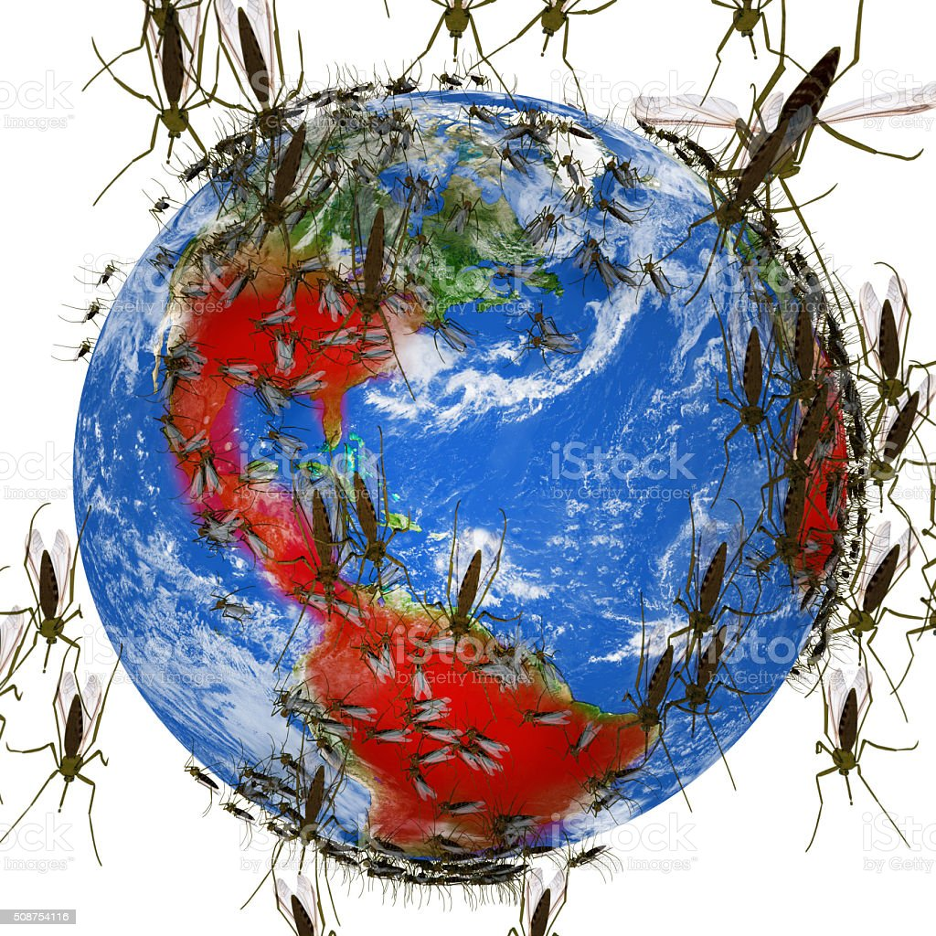 Zika Virus Spreads Globally stock photo