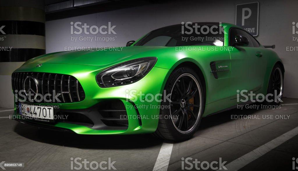 luxury car zilina  Zilina Slovak Republik Slovakia November 09 2017 Native Green Colour ...