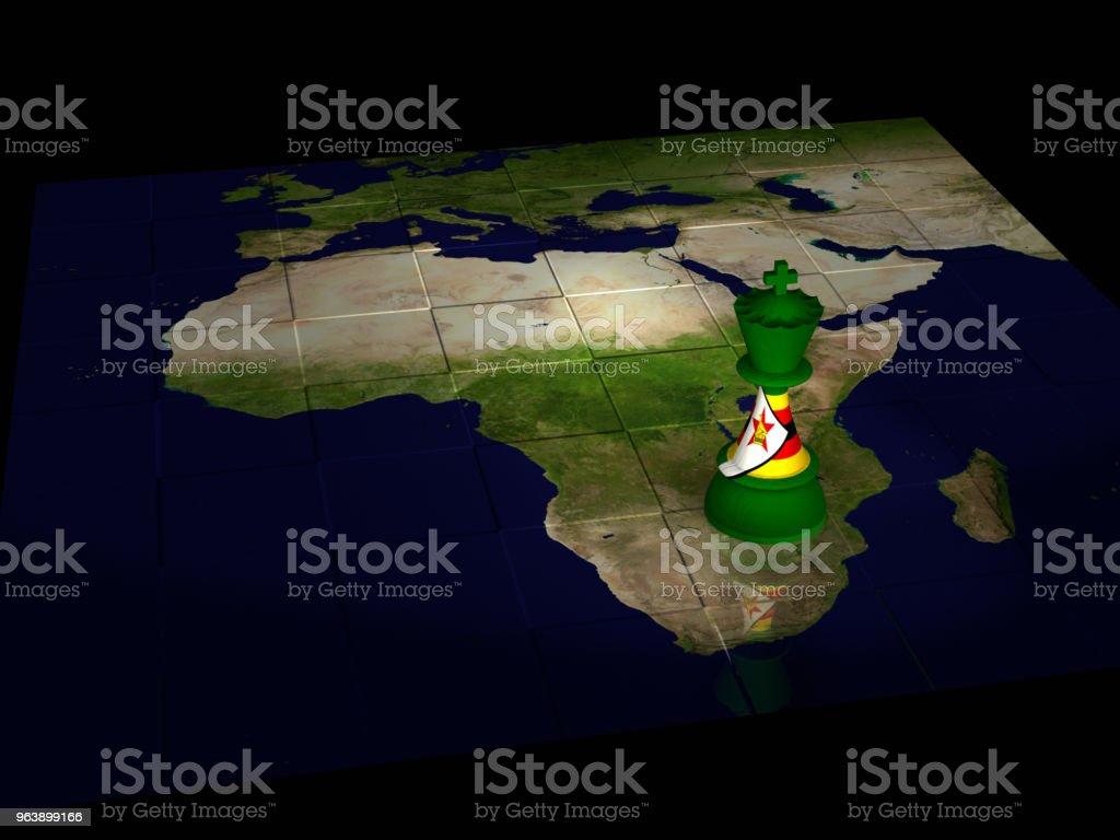 Zimbabwe Chess Map - Royalty-free Africa Stock Photo