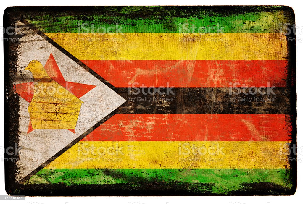 Zimbabwe Flag XXL royalty-free stock photo