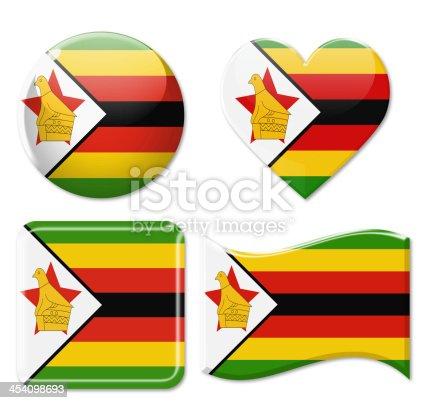 istock Zimbabwe Flags & Icon Set 454098693