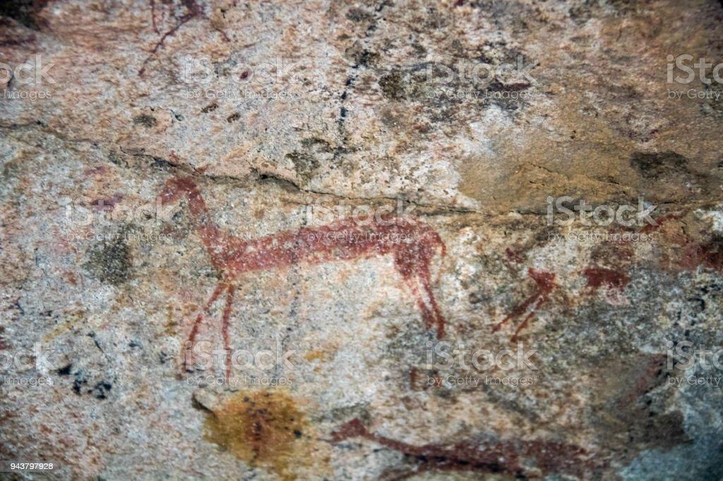 Zimbabwe: Rock Art in the Matobo Hills stock photo
